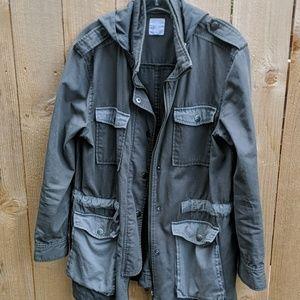 Leith anorak military hoody jacket